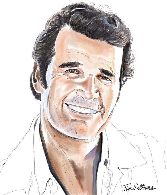 James Garner by timwilliamsart